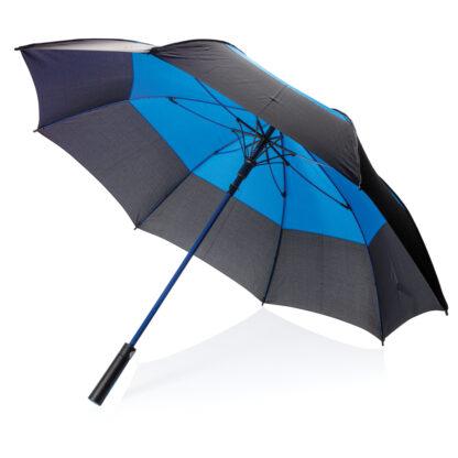 "27"" duo color stormsäkert paraply med automatisk öppning"
