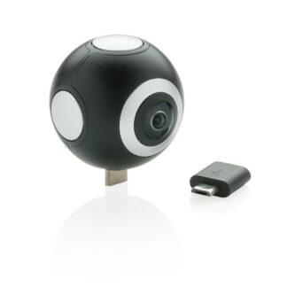 360 kamera med dubbellins