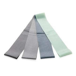4-pack elastiska träningsband i fodral