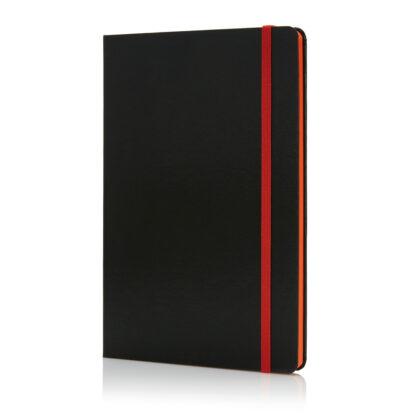 Anteckningsbok Deluxe - hårt omslag - färgade kantsidor - A5
