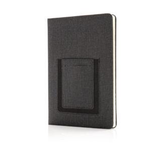 Deluxe A5 anteckningsbok med telefonfack