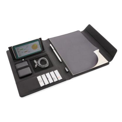 Fiko A4 portfolio med trådlös laddning och powerbank