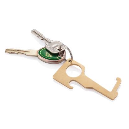 Hygienisk noll-kontakt nyckelring i mässing