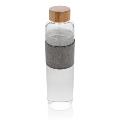 Impact borosilikatglasflaska med bambulock