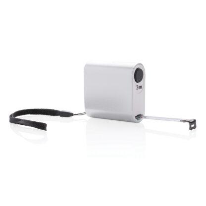 Modernt måttband i aluminium - 3 m/13 mm