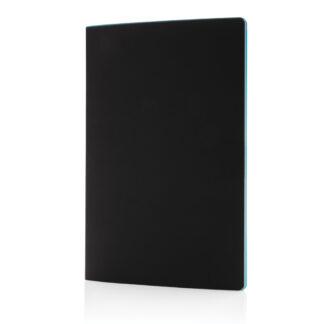 Softcover PU anteckningsbok med färgade kanter