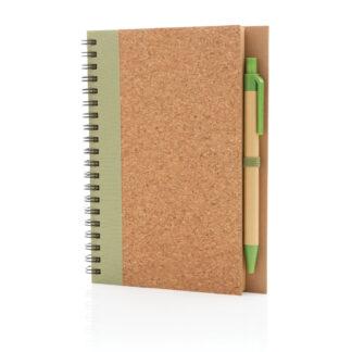 Spiralbunden anteckningsbok i kork