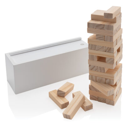 Stapelspel i trä