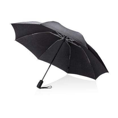 """Swiss Peak 23"""" hopvikbart vändbart paraply"""