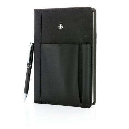 Swiss Peak anteckningsbok med telefonficka och penna