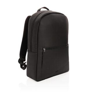 Swiss Peak lyxig laptopryggsäck i veganskt läder