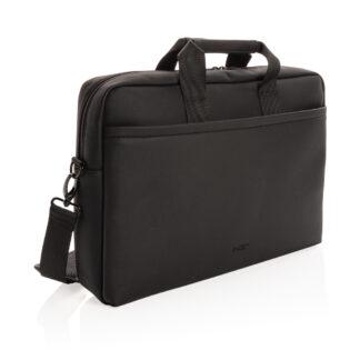 Swiss Peak lyxig laptopväska i veganskt läder