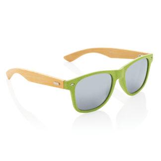 Vetestrå och bambu solglasögon